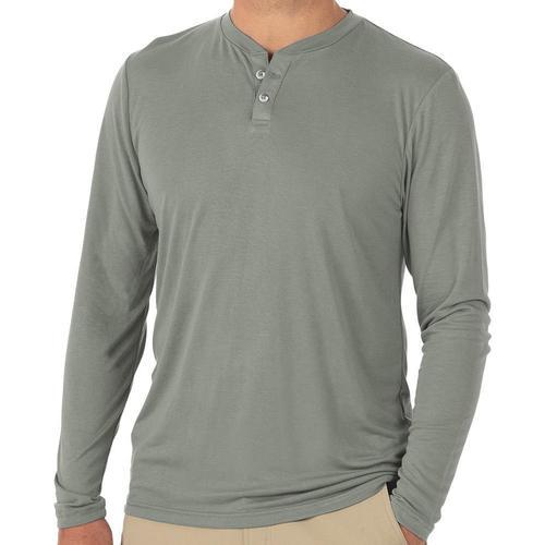 Free Fly Men's Bamboo Cruiser Henley Long Sleeve Shirt Sagebrsh104