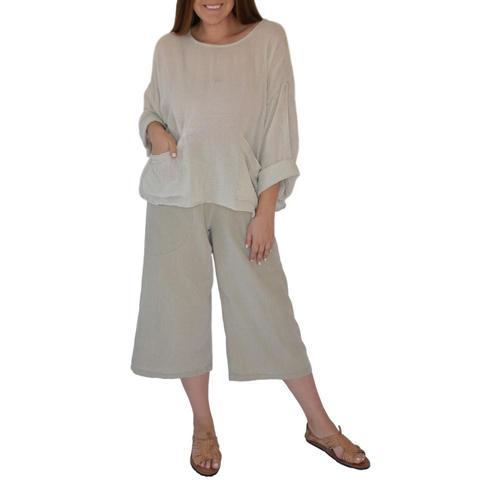 Honest Cotton Women's Beach Pocket Tunic Ecru