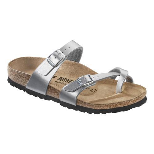 Birkenstock Kids Mayari Birko-Flor Sandals - Narrow Silver