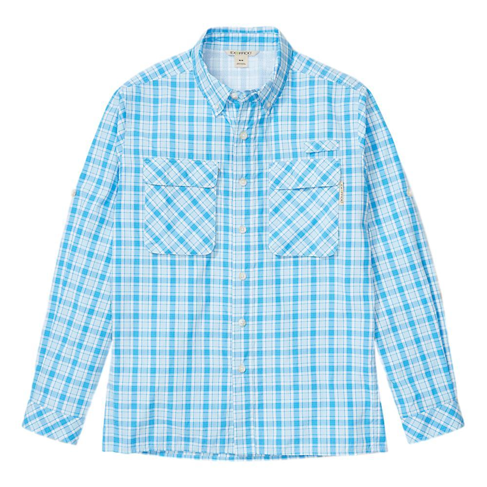 ExOfficio Men's Air Strip Check Plaid Long Sleeve Shirt BLBELL_5454