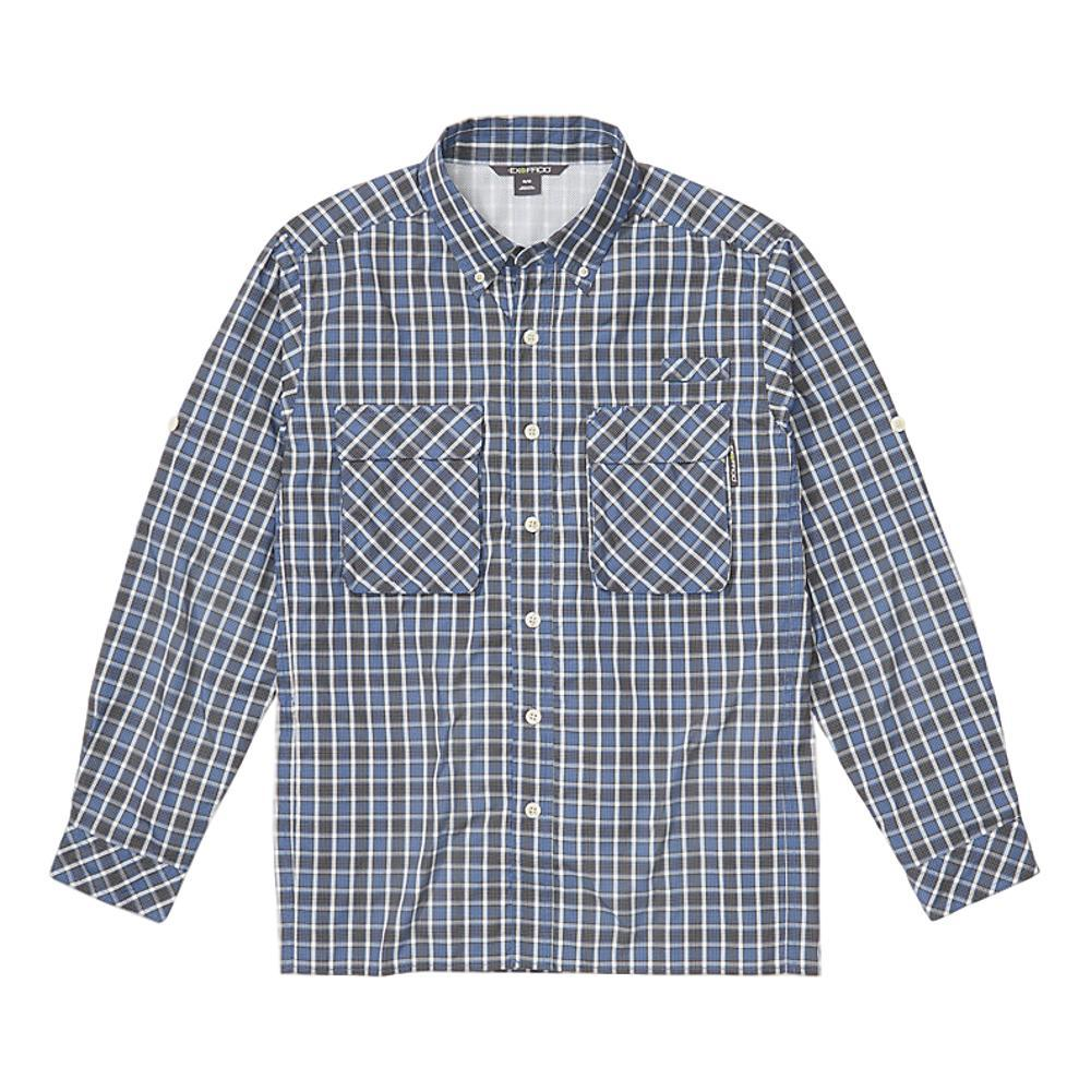 ExOfficio Men's Air Strip Check Plaid Long Sleeve Shirt BLUE_5017