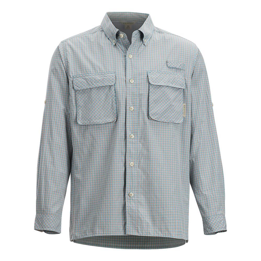 ExOfficio Men's Air Strip Check Plaid Long Sleeve Shirt CITADEL