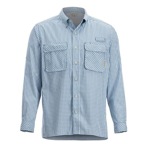 ExOfficio Men's Air Strip Check Plaid Long Sleeve Shirt Dpwater