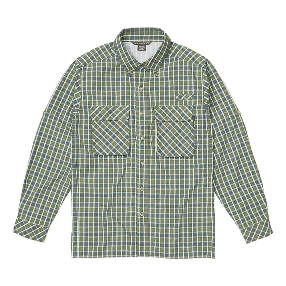ExOfficio Men's Air Strip Check Plaid Long Sleeve Shirt GREEN_6005
