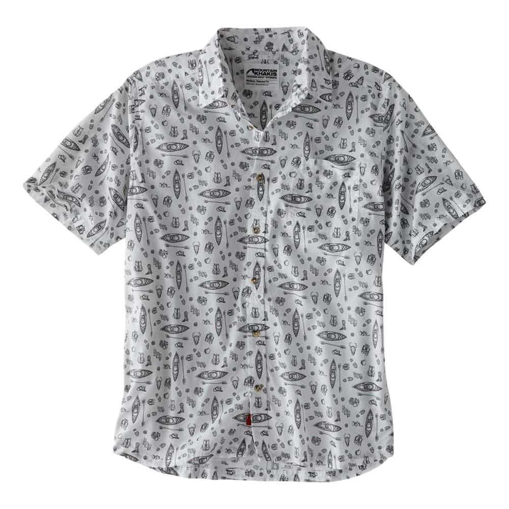 Mountain Khakis Men's Adventurist Signature Print Short Sleeve Shirt LINEN