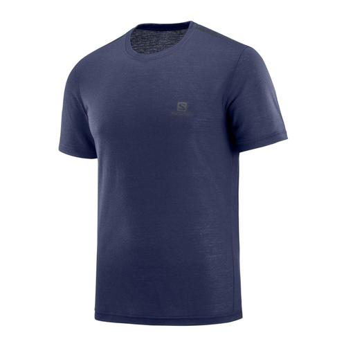 Salomon Men's Explore Short Sleeve Tee Nightsky