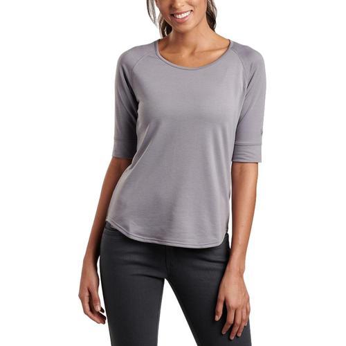 KUHL Women's Rhea 1/2 Sleeve Shirt Citygray
