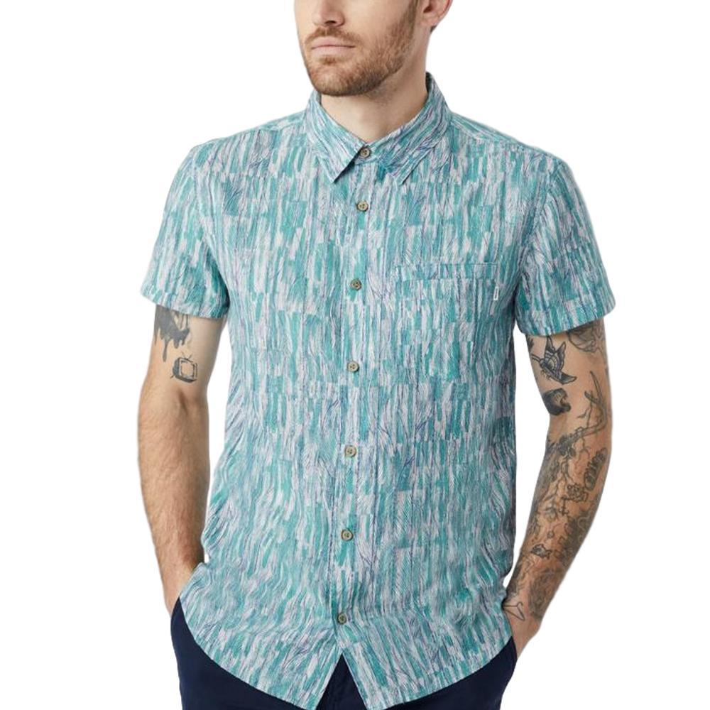 tentree Men's Mancos Short Sleeve Button Up HTHDKDENM