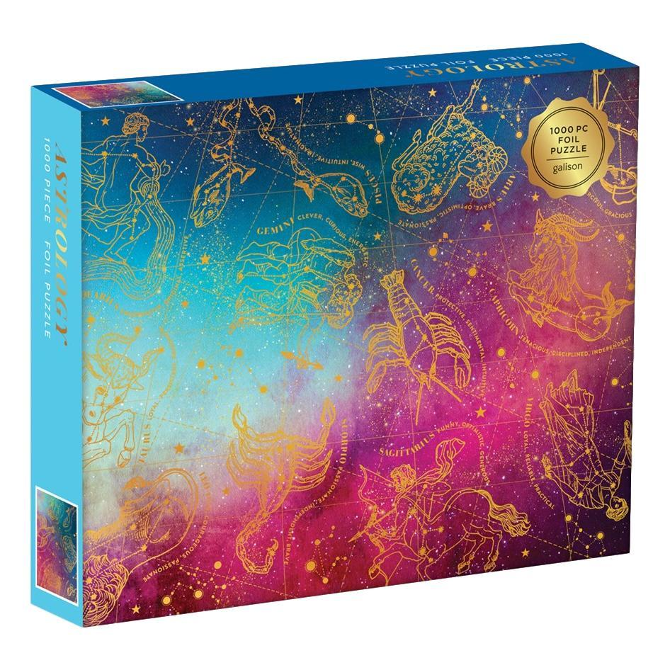 Chronicle Books Astrology 1000- Piece Foil Jigsaw Puzzle