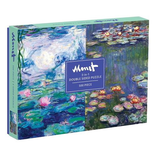Chronicle Books Monet 500-Piece Double Sided Puzzle