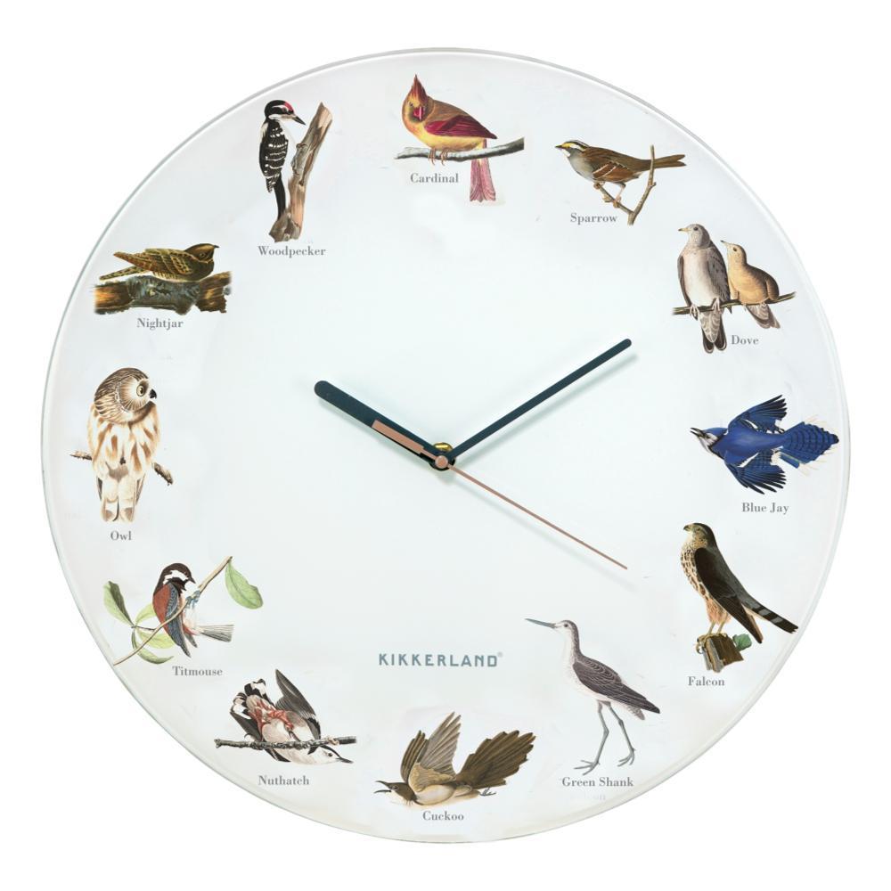 Kikkerland Design Bird Call Wall Clock
