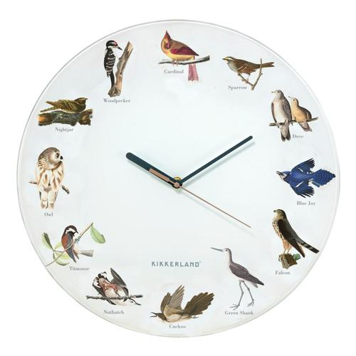 Kikkerland Design Bird Call Wall Clock