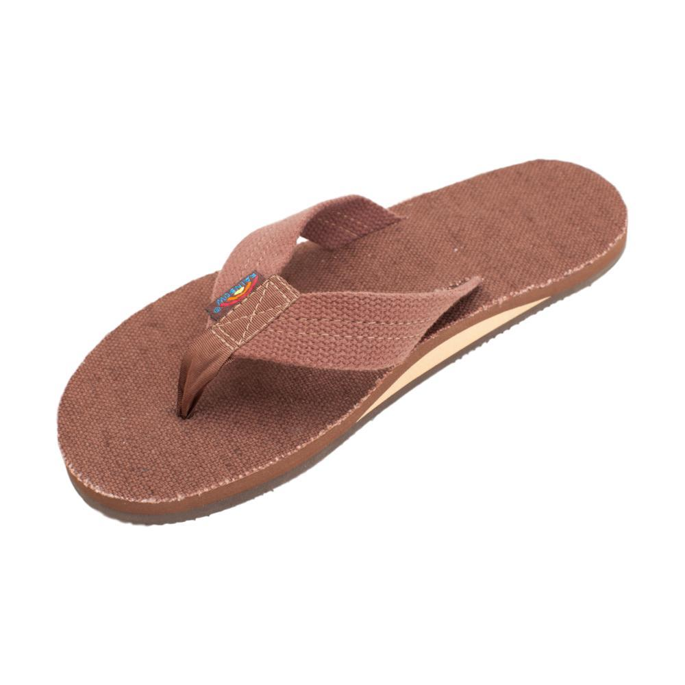 Rainbow Sandals Men's Single Layer Hemp Top and Strap with Arch Support Sandals BRNO_BROWN