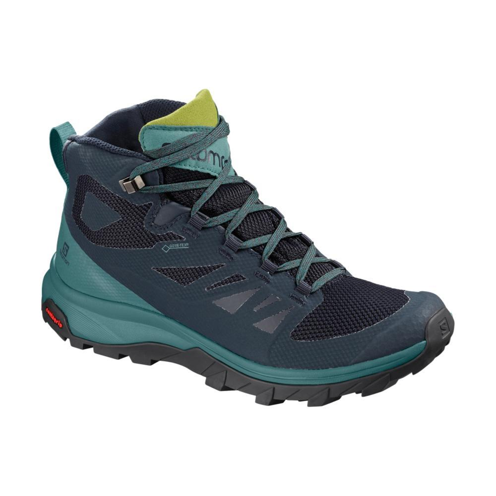 Salomon Women's Outline Mid GTX Hiking Shoes NVY.GUAC