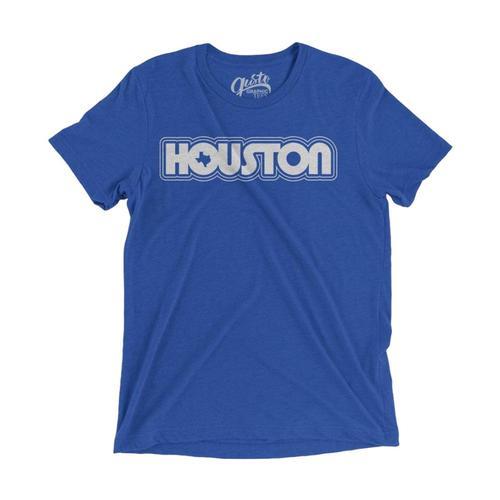 Gusto Tees Unisex Retro Houston T-shirt Trueroyal