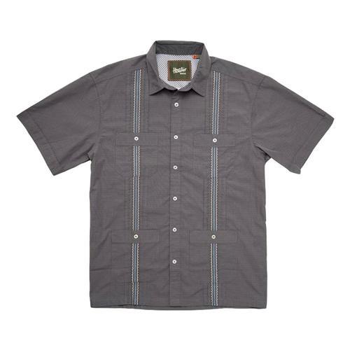 Howler Brothers Men's Guayabera Shirt Grey