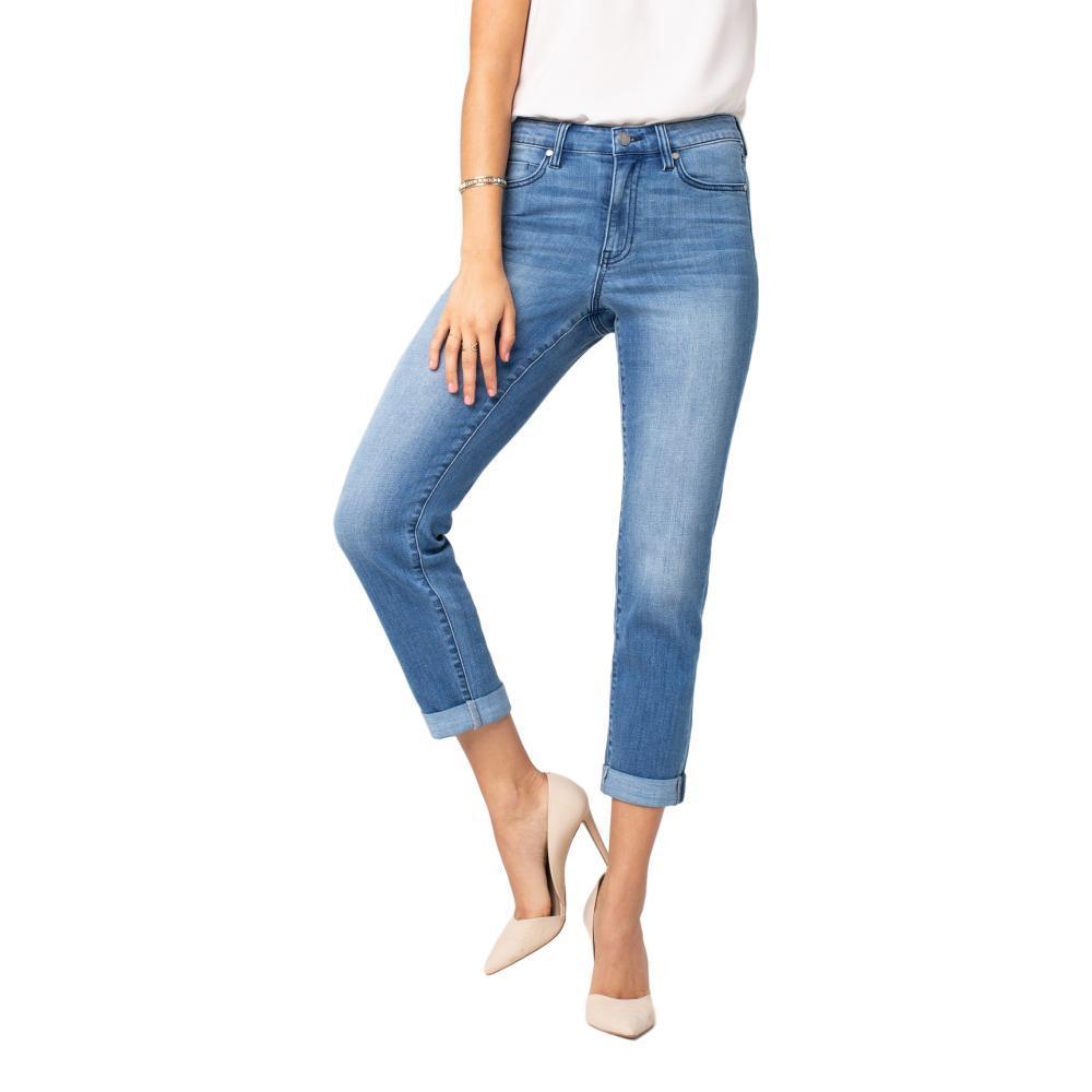 Liverpool Women's Marley Girlfriend Crosshatch Jeans CRESTLAKE