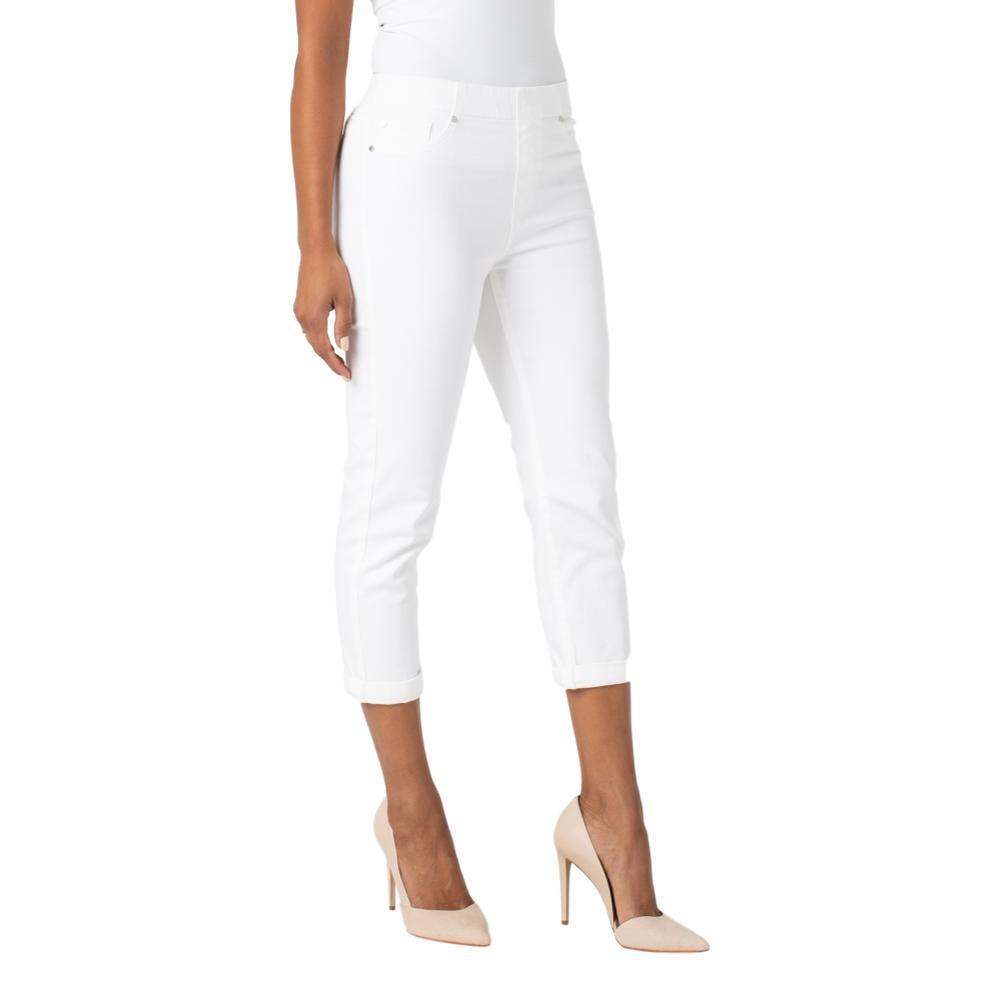 Liverpool Women's Chloe Crop Rolled Cuff Stretch Jeans WHITE