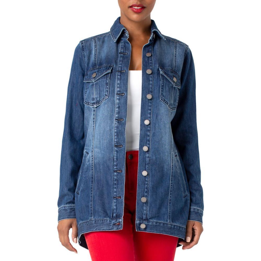 Liverpool Women's High-Low Shirt Jacket Rigid BECKETT