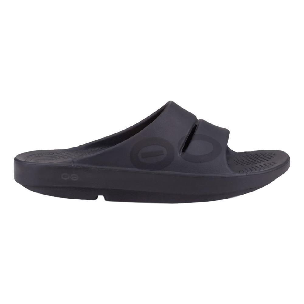 OOFOS Women's OOahh Sport Slide Sandals BLKMATTE
