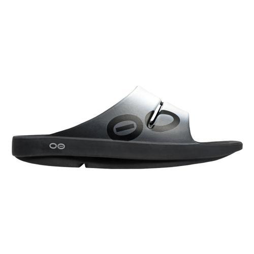 OOFOS Women's OOahh Sport Slide Sandals Smoke