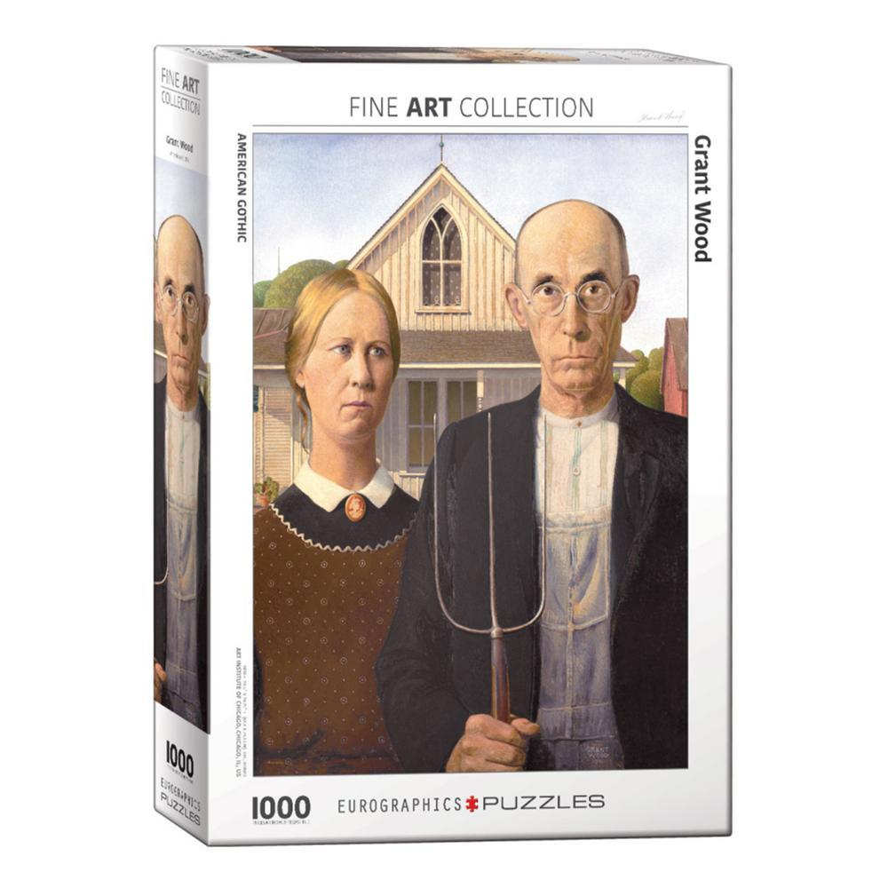 Eurographics American Gothic By Grant Wood 1000- Piece Jigsaw Puzzle