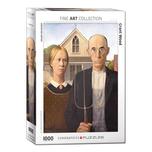 EuroGraphics American Gothic by Grant Wood 1000-Piece Jigsaw Puzzle