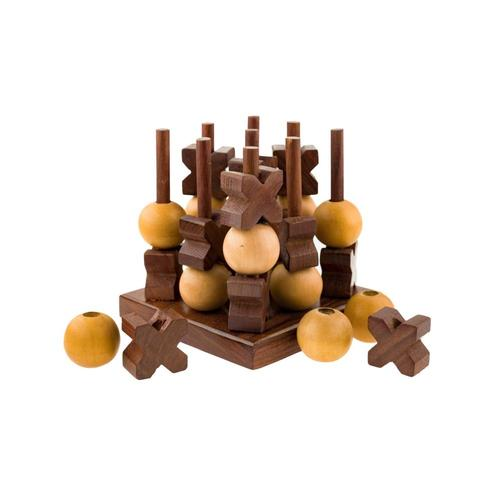 Matr Boomie Indian Rosewood Tic-Tac-Toe Game