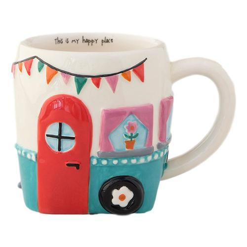 Natural Life Happy Place Camper Folk Mug