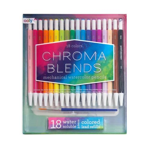 Ooly Chroma Blends Mechanical Water Color Pencils - Set of 18