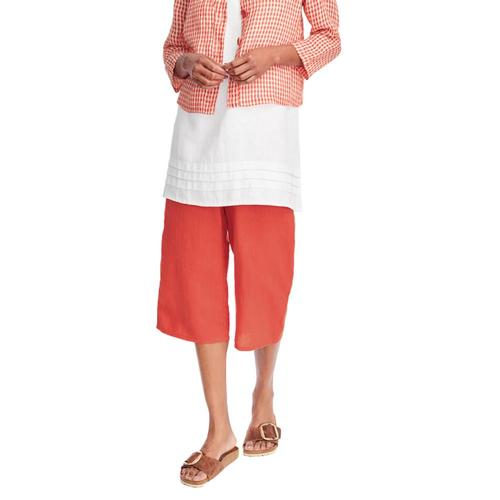FLAX Women's Crop Pant Poppy