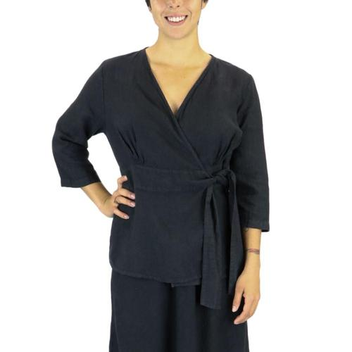 FLAX Women's Secure Blouse Noire