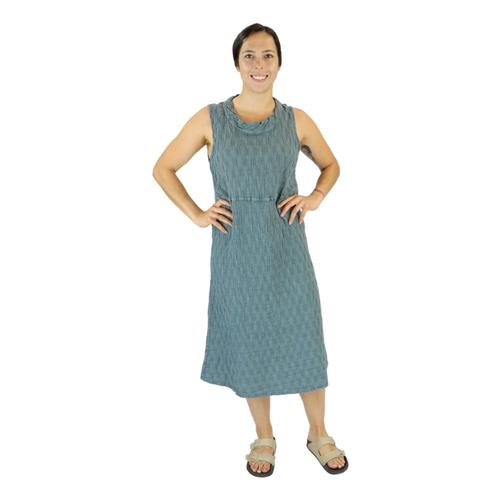 FLAX Women's Date Night Dress in Pucker Mineralpckr