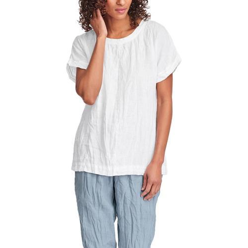 FLAX Women's Tee Top White