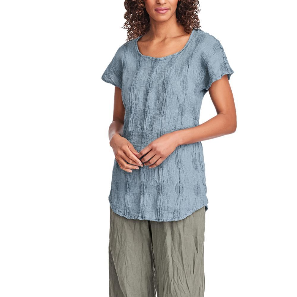 FLAX Women's Empire Tee Top BLUECORNDOT