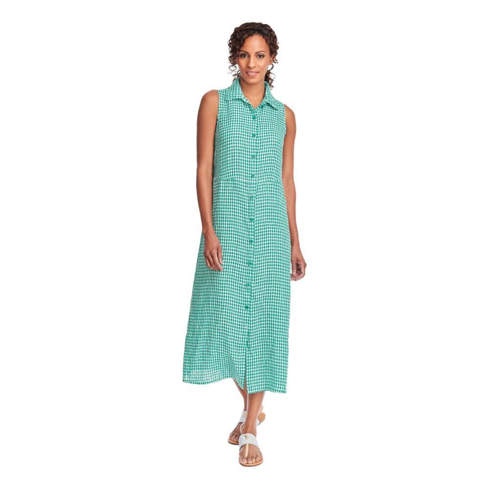 FLAX Women's Dresser Maxi Dress in Gingham JADEGINGHAM