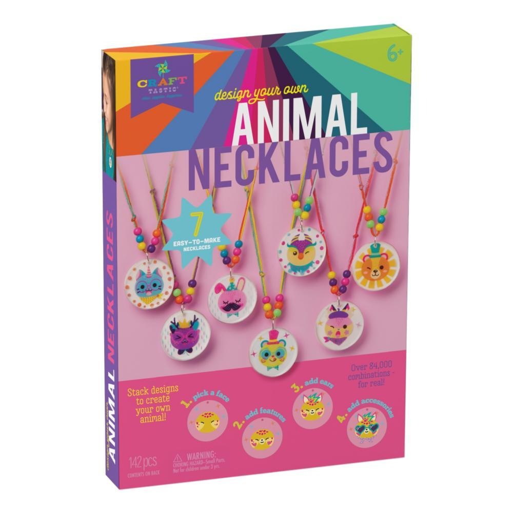 Craft- Tastic Design- Your- Own Stacked Animal Necklaces Kit