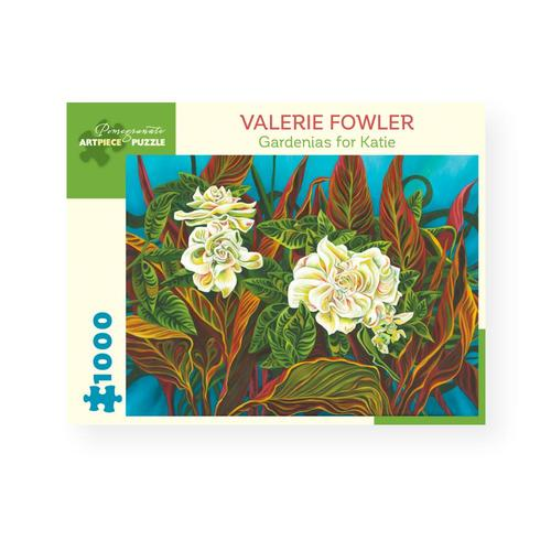 Pomegranate Publishing Gardenias for Katie by Valerie Fowler 1,000-Piece Jigsaw Puzzle