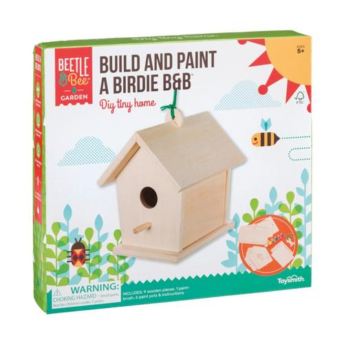 Toysmith Beetle & Bee Garden Build And Paint A Birdie B&B Kit