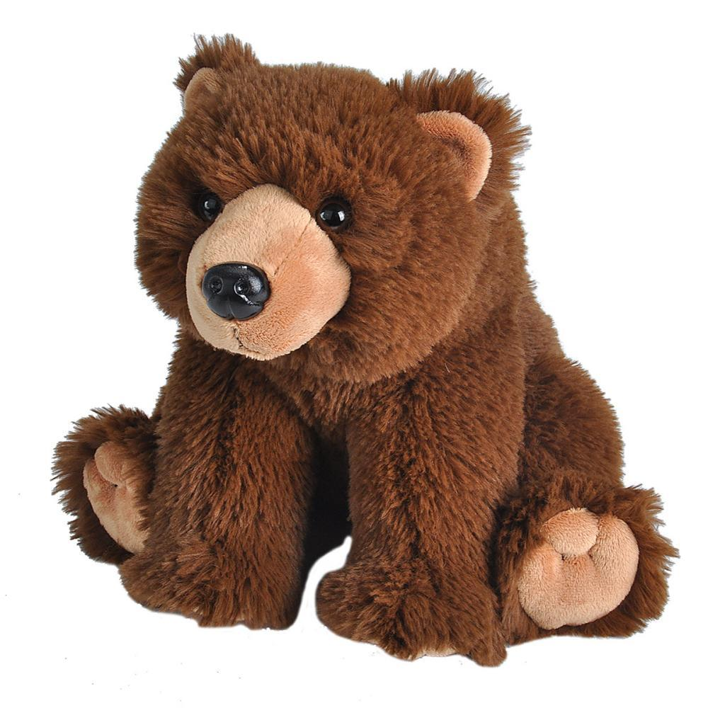 Wild Republic Cuddlekins Brown Bear Stuffed Animal - 12in