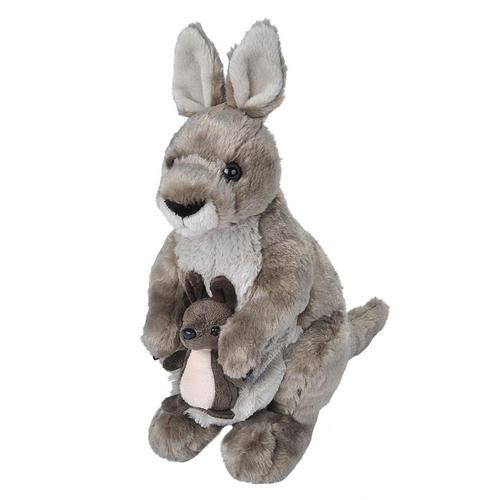 Wild Republic Cuddlekins Kangaroo Stuffed Animal - 12in