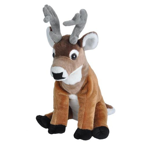 Wild Republic Cuddlekins White Tailed Deer Stuffed Animal - 12in