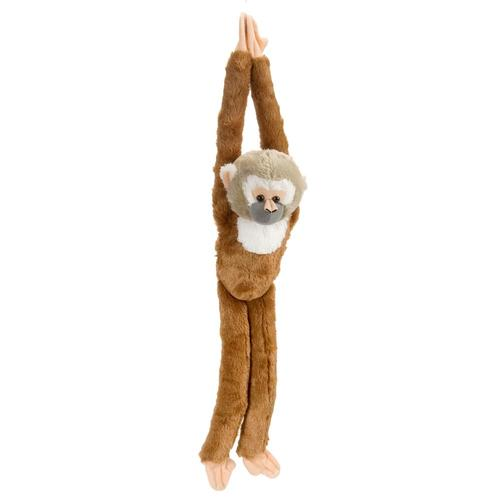 Wild Republic Hanging Squirrel Monkey Stuffed Animal - 20in