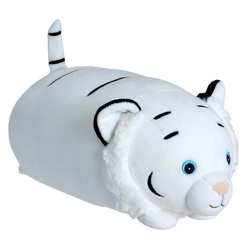 Wild Republic Dream Puffs White Tiger Stuffed Animal - 10in