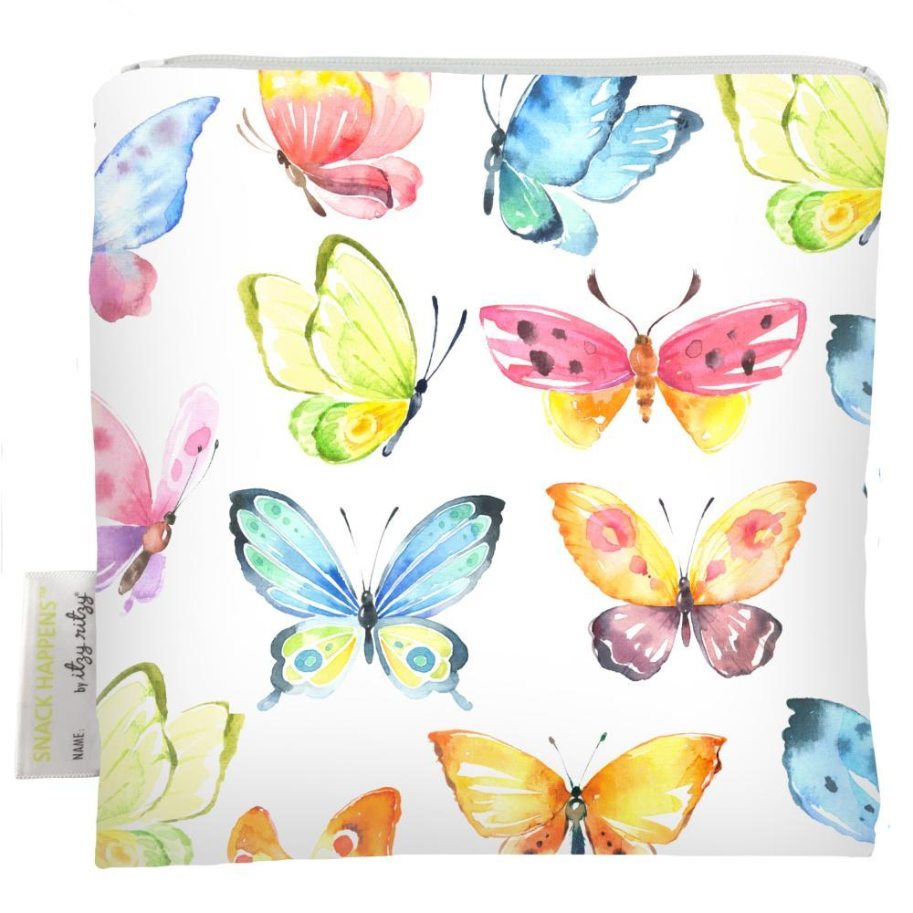 Itzy Ritzy Snack Happens Reusable Snack And Everything Bag BUTTERFLY