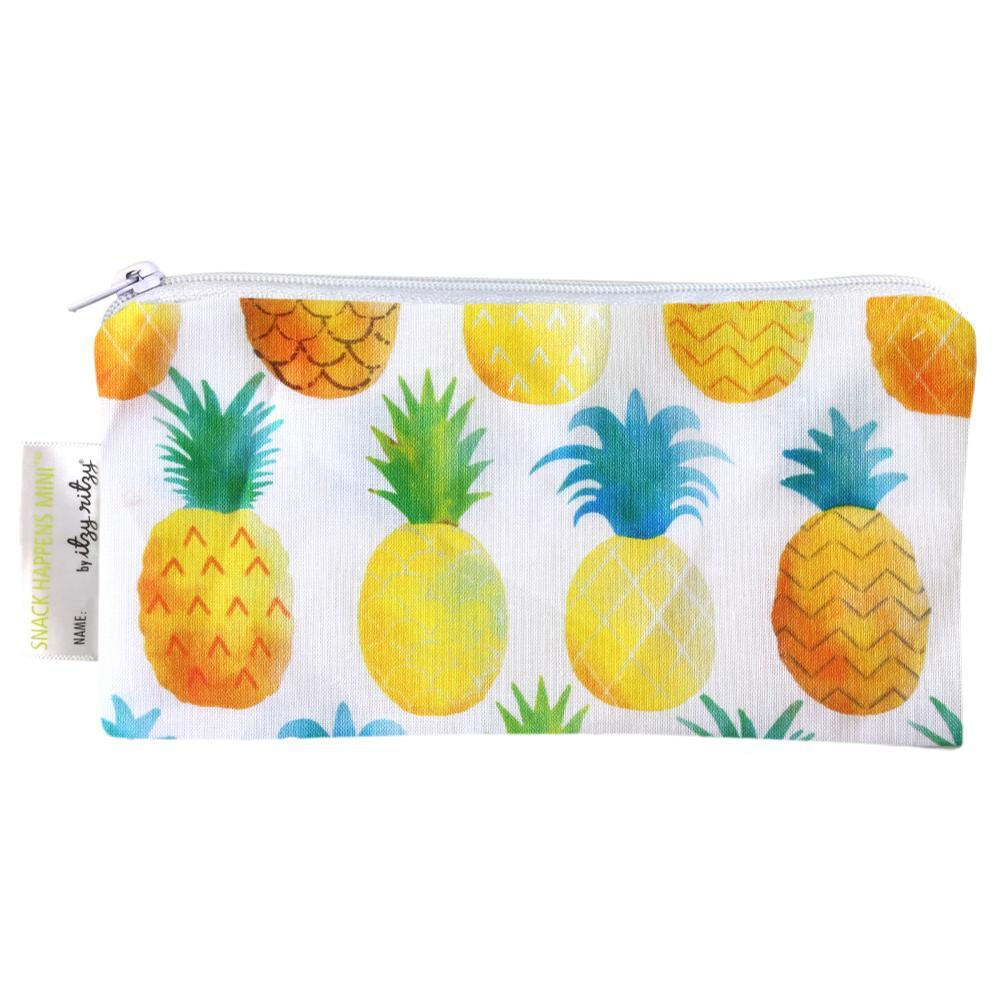 Itzy Ritzy Snack Happens Mini Reusable Snack And Everything Bag - 2-Pack PINEAPPLE