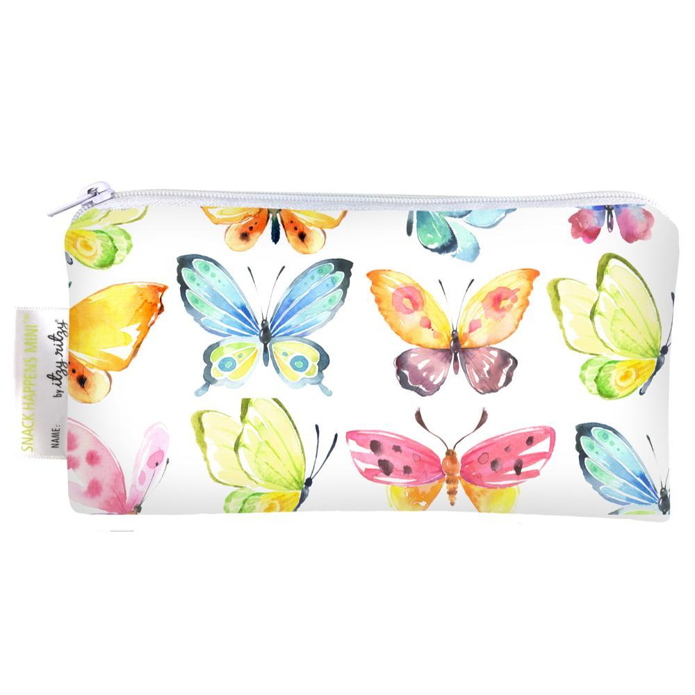 Itzy Ritzy Snack Happens Mini Reusable Snack And Everything Bag - 2-Pack BUTTERFLY