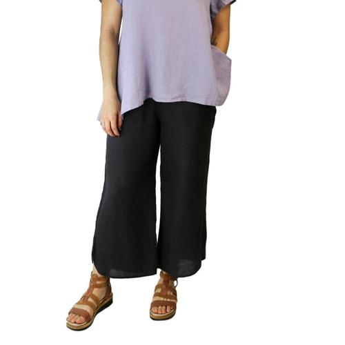 FLAX Women's Shirttail Flood Pants Nineiron