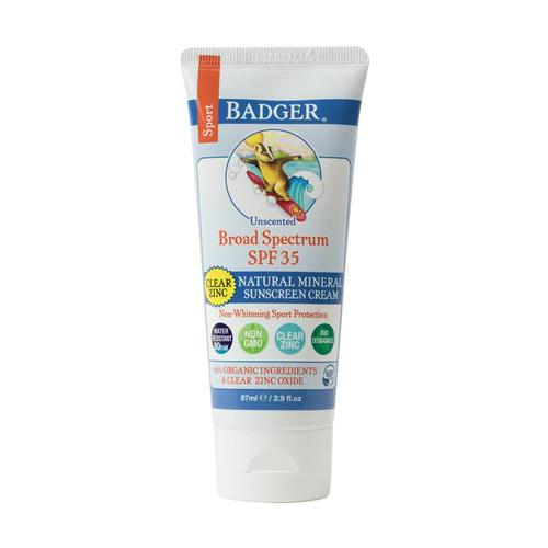 Badger Clear Zinc Oxide Sport Sunscreen - SPF 35 Clear_zinc