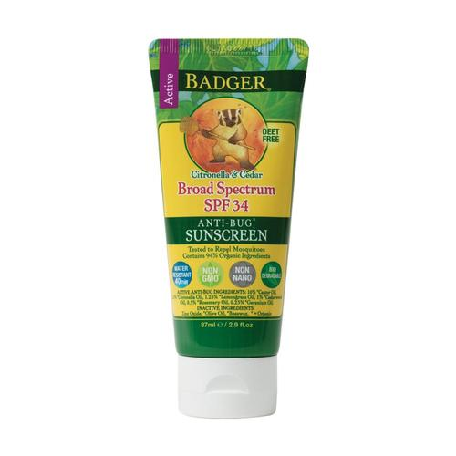 Badger Sunscreen Bug Repellent - SPF 34 .